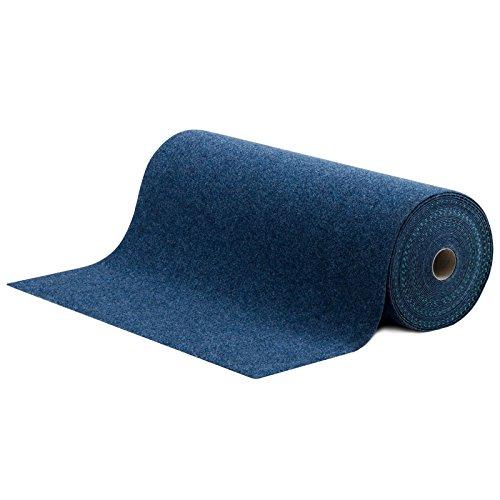 #Rasenteppich / Kunstrasen Farbwunder Royal – Zuschnitt nach Maß – denim blau – 200x400cm#