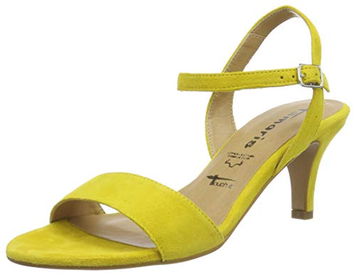 Tamaris 1-1-28361-22, Sandali con Cinturino alla Caviglia Donna, Giallo (Sun 602), 37 EU