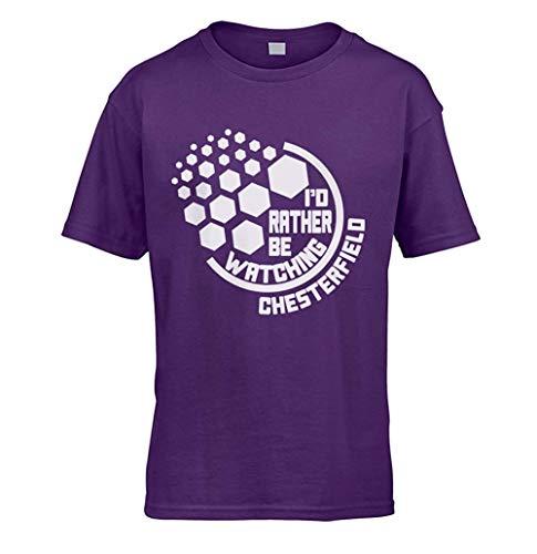 I'd Rather Be Beobachten Chesterfield Kinder T-Shirt (Auswahl Farbe und Größe 3 zu 13 Jahre - Lila, Klein (5-6 Jahre)