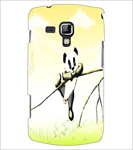 PrintDhaba Panda D-4875 Back Case Cover for SAMSUNG GALAXY S DUOS 2 S7582 (Multi-Coloured)