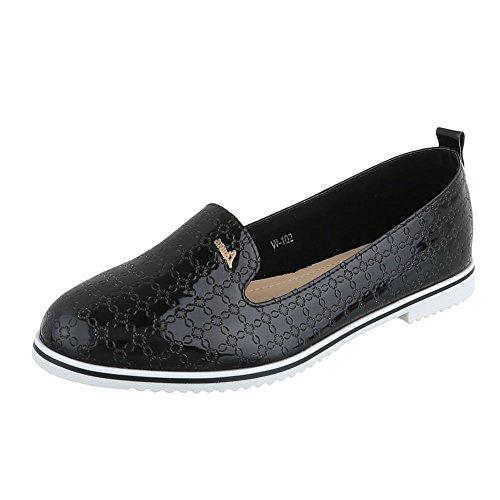 Ital-Design , chaussons dintérieur femme Schwarz