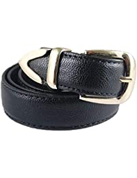 FAMILIZO Cinturones Mujeres Medio Ancho Imitación Cuero Cintura Cinturón  Dama Anillo Hebilla Sólido Pretina Cinturones Elasticos eaee6c799d17