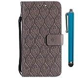 Handy schützen, Hülle Für Samsung Galaxy J6 / J4 Geldbeutel/Kreditkartenfächer / mit Halterung Ganzkörper-Gehäuse Blume Hart PU-Leder für J7 Duo / J7 Prime / J7 (2017) für Samsung