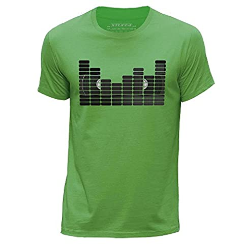STUFF4 Men's Medium (M) Green Round Neck T-Shirt/Equalizer/VHS Tape