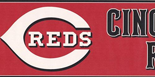 incinnati Reds MLB Baseball Team Fan Sport Wallpaper Border Modern Design, Roll-15' x 6'' ()