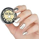 Pigmento en polvo plateado para uñas cromado y espejado, efecto de brillo en polvo para uñas, herramientas de belleza para arte en uñas