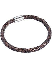 Rafaela Donata - Bracelet en cuir - Cuir véritable - Bijoux en cuir - En différentes longueurs, bijoux en cuir - 60907008