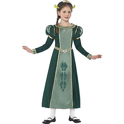 Kostüm Kind Prinzessin Fiona - Smiffys Shrek Kinder Kostüm Prinzessin Fiona Karneval Fasching 10 bis 12 J.