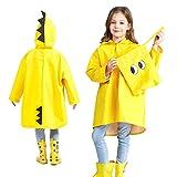 Mini Balabala Kinder Regenanzug Wasserdicht Regen-Overall Regenmantel Jungen Mädchen Regenkleidung Regenjacke Softshelljacke Regenponcho Outdoorjacke für Schule Fussball Wandern Yellow Size XL