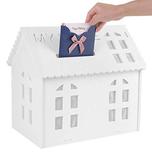UKMASTER Kartenbox Geschenkkarten Box Geldbox Briefbox für Hochzeit Baby Dusche Party Deko 40 x 42cm