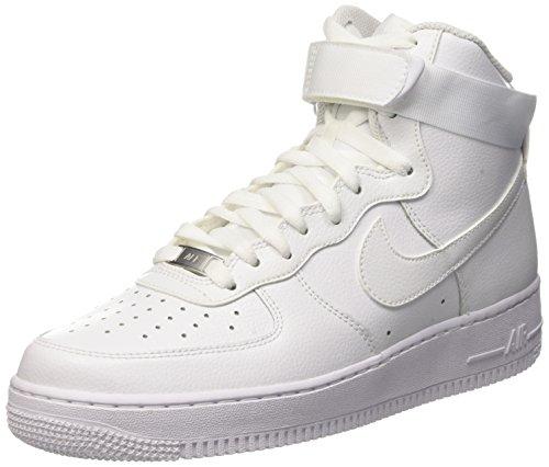 1 Bianco Bianco 07 bianco Alti Air Sneakers Uomo Nike Force ZqwaFx