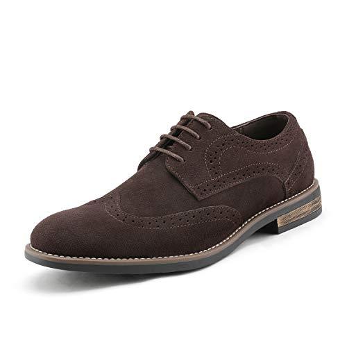Bruno Marc URBAN-03 Zapatos de Cordones Vestir Oxfords para Hombre Marrón Oscuro 44 EU/10.5 US