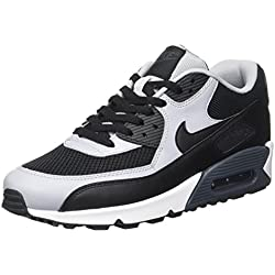 Nike Air Max 90 Essential, Chaussures de running homme, Negro / Gris (Black / Black-Wolf Grey-Anthrct), 40.5 EU