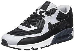 Nike Herren Air Max 90 Essential Laufschuhe Schwarz-Wolf Grau-Anthrct, 40 EU