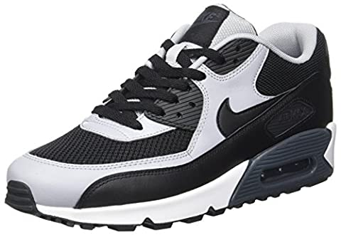 Nike Air Max 90 Essential, Chaussures de running homme, Negro / Gris (Black / Black-Wolf Grey-Anthrct), 42.5