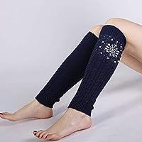 Calcetines de niñas El otoño y el Invierno de Las Mujeres japonesas y Coreanas tejen 8 Palabras cáñamo patrón Bordado perforando en Caliente los Calcetines de Perlas establecen Botas Calientes Cubren
