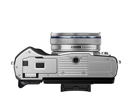 Olympus-E-M10-Mark-III-Fotocamera-con-Obiettivo-Pancake-Argento