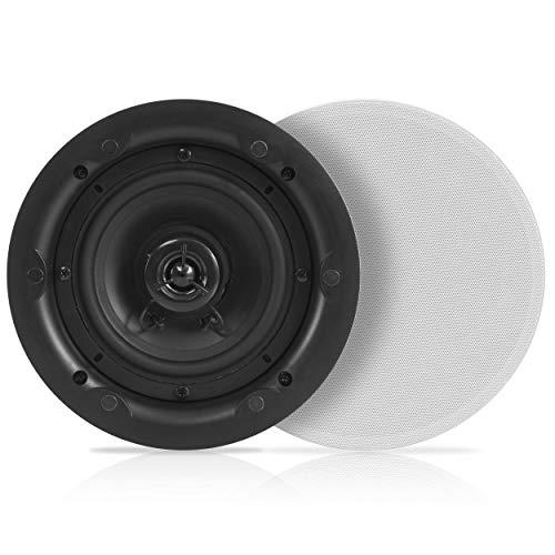 te Wand Dual Lautsprecher-2-Wege Full Range Stereo-Sound (Paar) Universal Flush Mount Design W/70hz-20kHz Frequenzgang 480Power Watt Peak & 2Magnet Lautsprecher Grills-Pyle pwrc63 ()