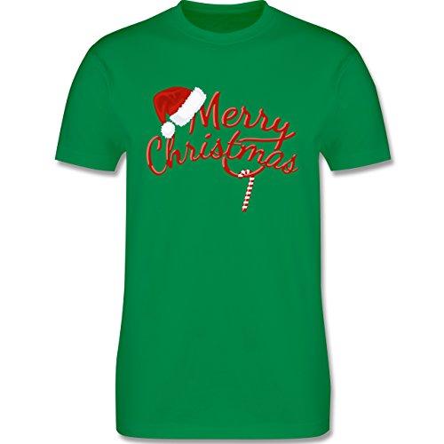 Weihnachten & Silvester - Merry Christmas Zuckerstange - Herren Premium T-Shirt Grün