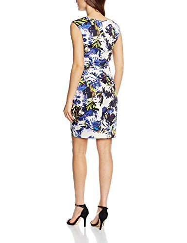 French Connection Kiki Palm Cotton Ss Vnk Dress - Robe - Femme Multicolore - Multicoloured (Brule/Multi)