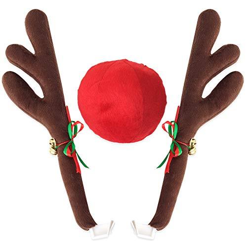 Crazywind Rentier Geweih Jingle Bells Kostüm Rudolph Auto Weihnachten ()