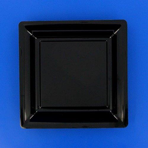 Ma Vaisselle Jetable - Assiette Carree Couleur Noire Diametre 180