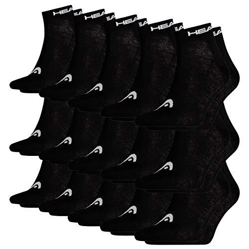 HEAD Unisex Quarter 15er Pack, Größe:43/46, Farbe:black (200)