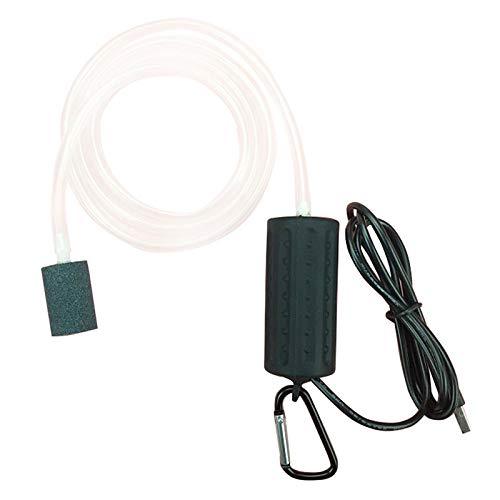 SODIAL USB Mini Belüftungspumpe Luftpumpe Aquarium Belüfter Ultra Leise Mini Fisch Tank Zum Angeln Sauerstoffpumpe -- Schwarz