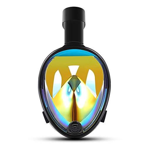 CHQSMZ Masque De Plongée Nouveau Masque De Plongée avec Masque Anti-Buée Snorkeling Intégral avec Anneau Anti-Dérapant Bouchons d'oreilles S/M Rainbow