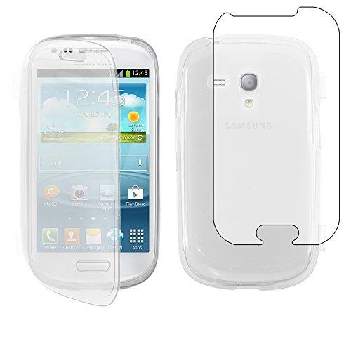 """ebestStar - Compatibile Cover Samsung S3 Mini Galaxy GT-i8190, i8190N Custodia Silicone Portafoglio Gel, Protezione Anti Shock AntiGraffio Antiscivolo, Trasparente [Apparecchio: 121.6x63x9.9mm 4.0""""]"""