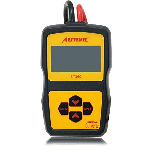 AUTOOL BT360, tester per batteria di auto, 12V, analizzatore di stato CCA 100-2400per flusso regolare, avviamento automatico e analizzatore diagnostico per sistema di ricarica