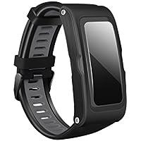Sharplace Smart Montre Bracelet Podomètre Temperature T28 Traceur GPS Moniteur De Fréquence Cardiaque - Noir