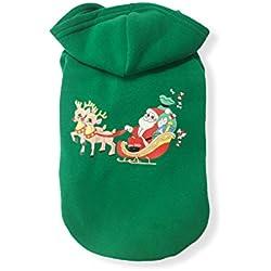 PETCUTE Mascota Navidad Disfraces Perro Capa con Tapa Sudaderas Gato Vestir Invierno cálido Ropa Desgastar