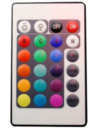 RGB multi colour 3528 LED strip with the Remote Control controller