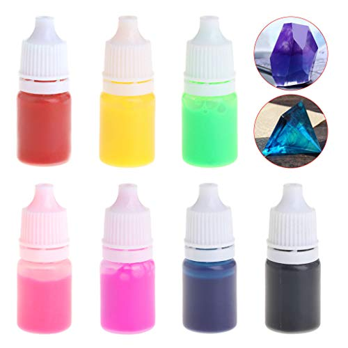 Baiyao 7 Farben Epoxidharz Farbe Epoxid-Uv-Harz Uv Härtung Farbstoff Farbstoff Flüssige Pigment Mix Farben DIY-Handwerk