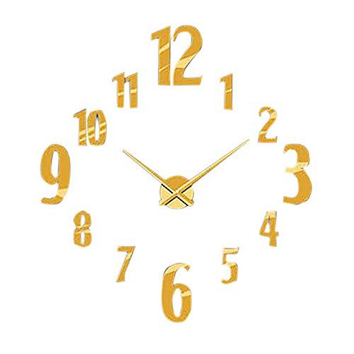 Uhr Kreative Digitale DIY Wanduhr Spiegel Wanduhr Dekoration hausgarten küche zubehör Uhren Alarm elektronische Uhren