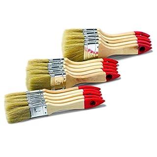 Yes Pinselset 15-teilig, je 5 Stk. Flachpinsel 25, 38 und 50mm, 70392