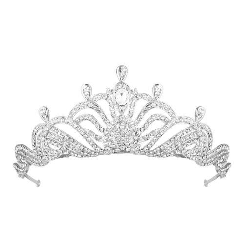 Oh dios mío tiara de cristal grande - Tamaño: 5 cm, W: 15 cm, L: 14 cm