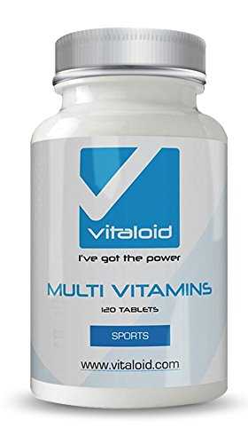 Multivitaminas Vitaloid - Fórmula de Multivitaminas y Minerales de CALIDAD PREMIUM - MULTIVITAMÍNICO PARA UNA SALUD DE HIERRO - VITAMINAS PARA 4 MESES - Multivitaminas con Minerales - Fórmula Multivitaminas para aumentar la energía y la vitalidad - Multivitamínico - Suplemento vitamínico para el equilibrio de la salud - Las Multivitaminas proporcionan beneficios para el corazón, sistema circulatorio, digestivo y la visión. Multivitaminas que aportan las vitaminas y minerales imprescindibles
