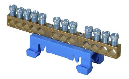 Preisvergleich Produktbild Kopp 250000001 Neutralleiter-Klemme mit Schnellbefestigung für die Hutschienen-Montage
