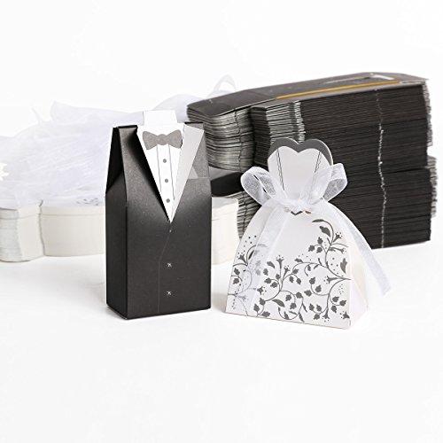 200tlg. Hochzeit Brautkleid Entwurf Brautpaar Gastgeschenk Geschenkbox Bonboniere Box Schachtel...
