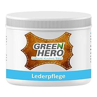 Green Hero Lederpflege, 500 ml, Balsam mit Bienenwachs für Glattleder, Lederbalsam, Auto, Schuhe, Couch, Taschen und Möbel