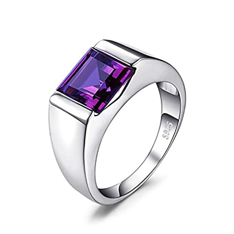 Jewelrypalace Men's 3.4ct Created Alexandrite Sapphire Ring Solid 925 Sterling Silver Size R