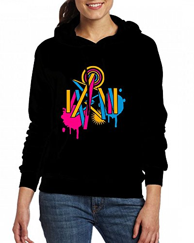 A graffiti design Womens Hoodie Fleece Custom Sweartshirts Black