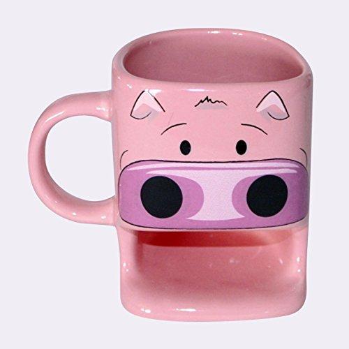 Schwein Tasse mit Keksablage Cookie Cup, aus Keramik (Becher Cookie)