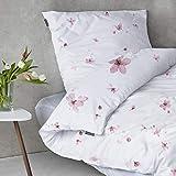 sleepwise 'Soft Wonder-Edition Bettwäsche (White/Pink Flower, 135 x 200 cm)