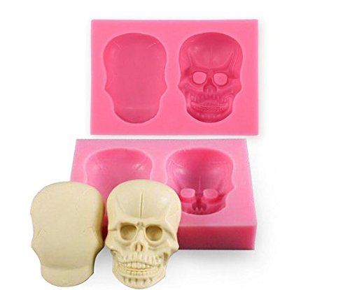 demarkt-cake-mould-3d-skull-silicone-mould-fondant-sugar-clay-jewellery-button-cake-mold