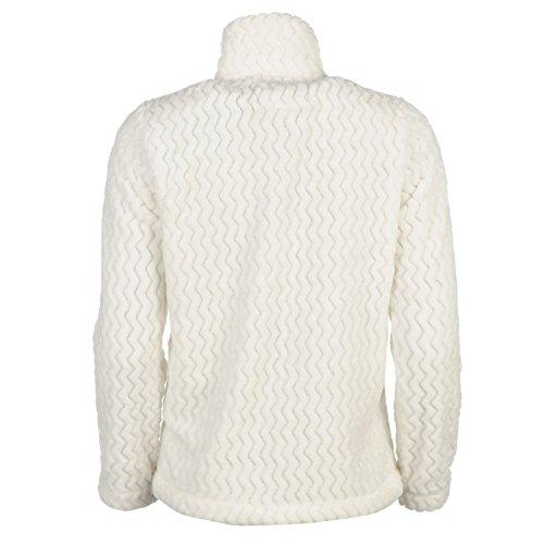 Cote De Moi Damen Bettjacke Fleece Bettjäckchen Warm Langarm Reißverschluss Creme