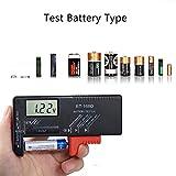Batterietester,Etmury Digitaler Batterie tester Universal Batterieprüfer Volt Prüfgerät für 1,5V und 9V Batterie AA AAA C D 9V 1.5V Knopf Knopfzellen