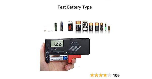 Batterietester Etmury Digitaler Batterie Tester Universal Batterieprüfer Volt Prüfgerät Für 1 5v Und 9v Batterie Aa Aaa C D 9v 1 5v Knopf Knopfzellen Baumarkt